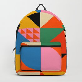 Geometric abstraction in colorful shapes   Backpack