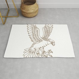 Osprey Swooping Drawing Rug