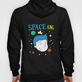 Cute & Funny Space King Space Lover Astronaut Hoody