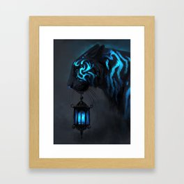 Blue Lantern Framed Art Print