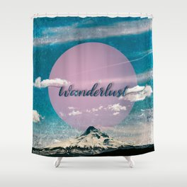 Wanderlust Mountain Shower Curtain
