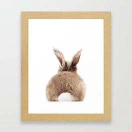 Bunny Back Framed Art Print