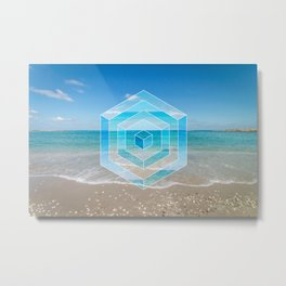 Sacred Geometry Seaview Metal Print