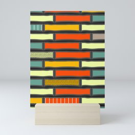 Joyful rectangles Mini Art Print
