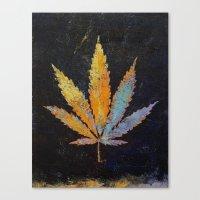 cannabis Canvas Prints featuring Cannabis by Michael Creese