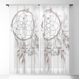 Dream catcher Sheer Curtain