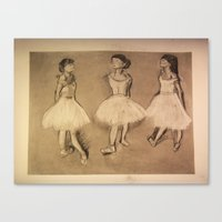 degas Canvas Prints featuring Degas Master Copy by Miss Baker