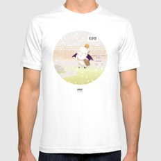 MHMU White SMALL Mens Fitted Tee