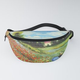 Claude Monet - Poppy Field at Argenteuil Fanny Pack