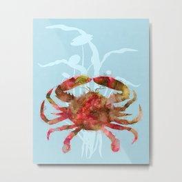 Mystical Crab Metal Print