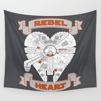 rebel Wall Tapestries featuring Rebel Heart by cepheart