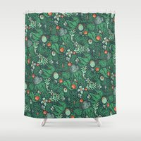 plants Shower Curtains featuring plants by Jordan Walsh