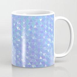 Blue Violet Triangles Coffee Mug