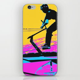 Free Falling - Stunt Scooter Rider iPhone Skin