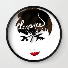 Bombshell Series: Elegance - Audrey Hepburn Wall Clock