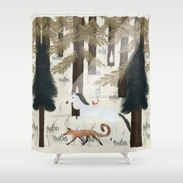 the fox and unicorn Shower Curtain