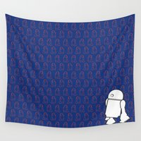 starwars Wall Tapestries featuring STARWARS R2D2 by Imog3n