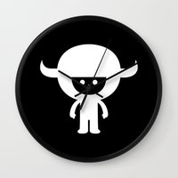 muppet Wall Clocks featuring IDKF horny muppet mascot by simon oxley idokungfoo.com