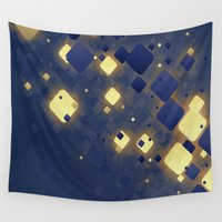 data Wall Tapestries featuring Data Skys by ReinventZen