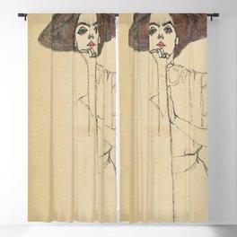 Egon Schiele - Portrait Of A Woman 1910 Blackout Curtain