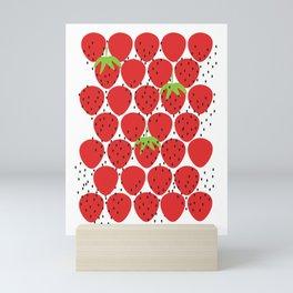 Scattered Strawberries Mini Art Print