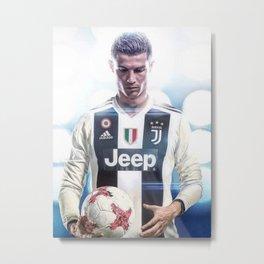 Cristiano Ronaldo To Juventus Metal Print