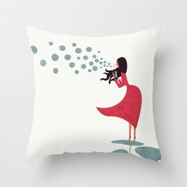 I'm bubbling. That state of absolute happiness when you are ready to fly. Throw Pillow