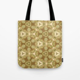 Abstract Gold Floral Tote Bag