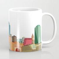 boston Mugs featuring Boston  by GoFe