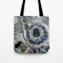 Glass Bits and Pieces Tote Bag