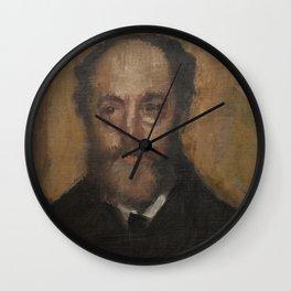 Portrait of the Art Critic Durand-Gréville Wall Clock