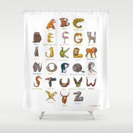 Wildlife-ABC Shower Curtain