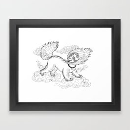 Snow Lion Framed Art Print