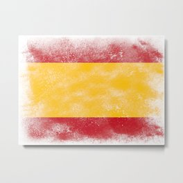 Spain flag isolated Metal Print