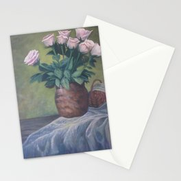 Pinks in Terra Vase - Still life 9 in a series of 10 Stationery Cards
