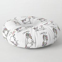 Inhale Exhale Unicorn Floor Pillow
