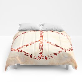 Watercolor music peace Comforters