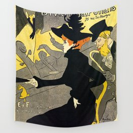 Toulouse Lautrec Divan Japonais music hall Wall Tapestry