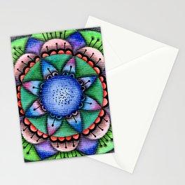 Raimbow Flower Mandala Stationery Cards