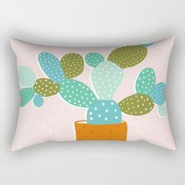 modern cacti Rectangular Pillow
