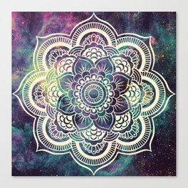 Galaxy Mandala : Deep Pastels Canvas Print