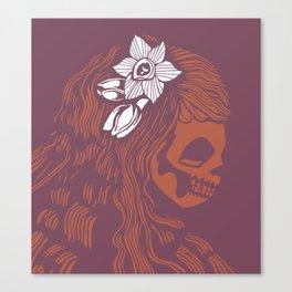 Death Becomes Hair Canvas Print