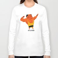 friday Long Sleeve T-shirts featuring Flex Friday by Huebucket