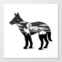 DINGO FROM DOWN UNDER Canvas Print