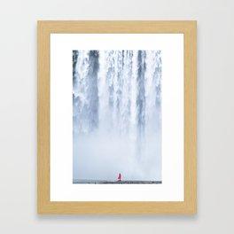 Water curtain Framed Art Print