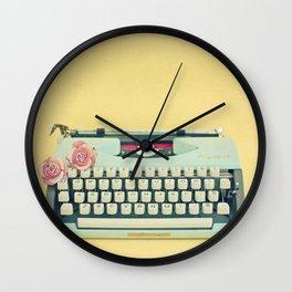 The Typewriter Wall Clock