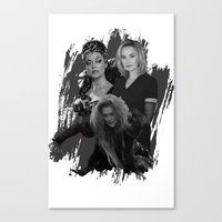 jessica lange Canvas Prints featuring The Witches - Susan Sarandon, Jessica Lange and Meryl Streep by BeeJL