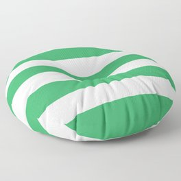 Asda Green (2002) - solid color - white stripes pattern Floor Pillow