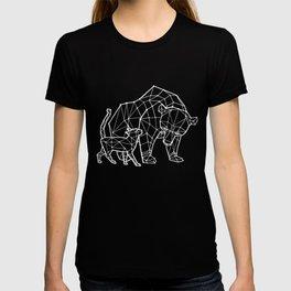 LowPoly Bear & Cat ( White ) T-shirt