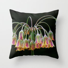 Delicate Drooping Flower Throw Pillow